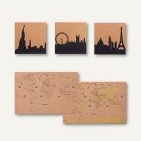 Artikelbild: Korktafelen bedruckt mit Skyline