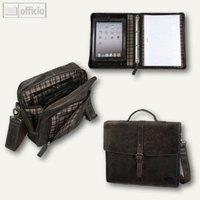 Artikelbild: Kollektion von Taschen & Mappen mit Karo-Futter aus Leder