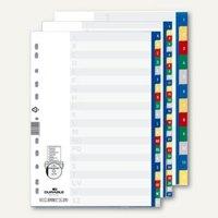Artikelbild: Register mit farbigen geprägten Taben