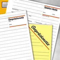 Artikelbild: Formular - Gesprächs- oder Telefonnotiz DIN A5