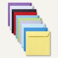 Artikelbild: Farbige Briefumschläge 190 x 190 mm nassklebend ohne Fenster 500St.
