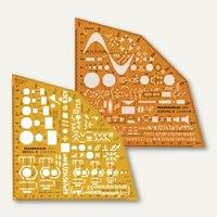 Artikelbild: Ausbildungs-Schablonen Metallwinkel / Elektrowinkel - 155x155x1.2 mm