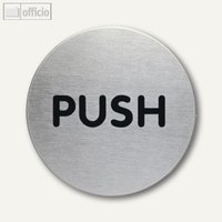 Artikelbild: Edelstahl-Piktogramm PUSH