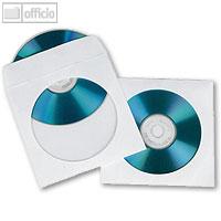 Artikelbild: CD/DVD-Papierhülle für 1CD weiß mit Lasche u. Fenster