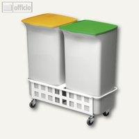 Artikelbild: Abfallbehälter-Set DURABIN SQUARE 40 mit Fahrwagen