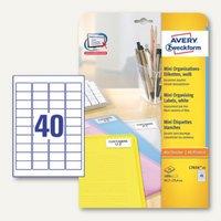 Artikelbild: Mini-Organisationsetiketten für alle Drucker