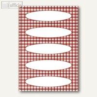 Artikelbild: Küchenetiketten Vichy-Karo Rot