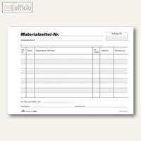 Artikelbild: Materialzettelblock Baumaterial