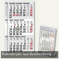 Artikelbild: Kalendarium für 3-Monats-Tischaufsteller Edelstahl