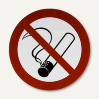 Artikelbild: Verbotsschildfolie Rauchen verboten - (Ø)200 mm