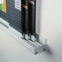 Artikelbild: Wandschiene f. rollengelagerte Tafeln - (T)55 mm