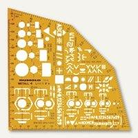 Artikelbild: Ausbildungs-Schablone Metallwinkel - 155 x 155 x 1.2 mm