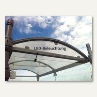 Artikelbild: LED-Beleuchtung für Raucherunterstand