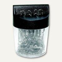 Artikelbild: Magnetdose mit 100 Briefklammern vernickelt 26 mm