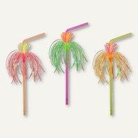 Artikelbild: Deko-Trinkhalme neon Flower flexibel