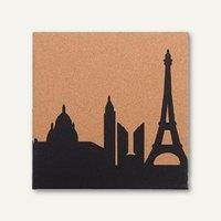 Artikelbild: Korktafel bedruckt mit Paris Skyline