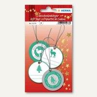 Artikelbild: 3D Weihnachts-Geschenkanhänger grün/silber