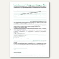Artikelbild: Informationsblatt Informationen zum Schutz personenbezogener Daten