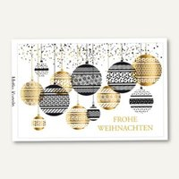 Artikelbild: Weihnachtskarte Glamour Kugeln