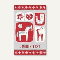 Artikelbild: Weihnachtskarte Nordic Frohes Fest