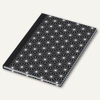 Artikelbild: Notizbuch black&white Stars