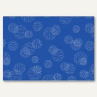 Artikelbild: Geschenkpapier Scribbled Circles blau