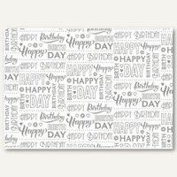 Artikelbild: Geschenkpapier Typo Happy