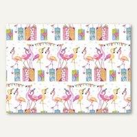 Artikelbild: Geschenkpapier Flamingos