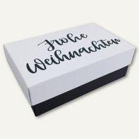 Artikelbild: Geschenkbox Lettering FROHE WEIHNACHTEN S
