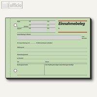 Artikelbild: Formular Einnahmebeleg grün DIN A6 quer 50 Blatt