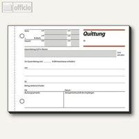 Artikelbild: Formular Quittung m. MwSt. Nachweis DIN A6 quer 50 Blatt
