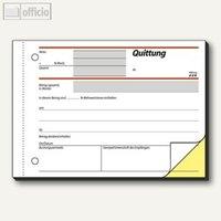 Artikelbild: Formular Quittung einfaches Satzbild DIN A6 quer 2x40 Blatt