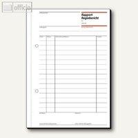 Artikelbild: Formular Rapport und Regiebericht DIN A5 hoch