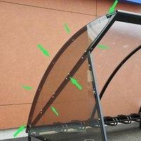 Artikelbild: Halbkreis-Seitenverkleidung für Fahrradüberdachung HALBMOND - 2 Stück