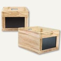 Artikelbild: Holzbox mit 2 Kreidetafelflächen