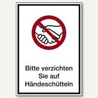 Artikelbild: Hinweisschild Kein Händeschütteln