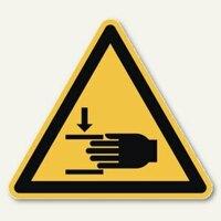 Artikelbild: Hinweisschild Handverletzungen
