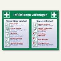 Artikelbild: Hinweisschild Infektionen vorbeugen