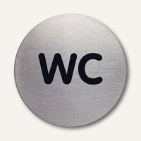 Artikelbild: Edelstahl-Piktogramm WC