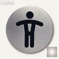 Artikelbild: Edelstahl-Piktogramm WC-Herren
