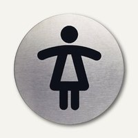Artikelbild: Edelstahl-Piktogramm WC-Damen