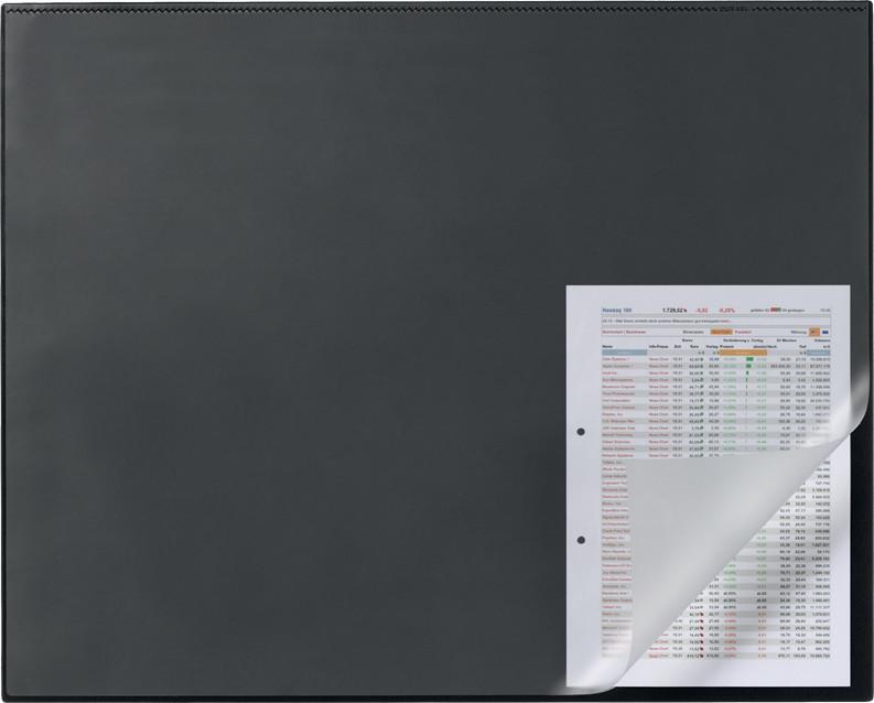 durable schreibunterlage mit kantenschutz 65 x 50 cm schwarz 7293 01 b robedarf bei. Black Bedroom Furniture Sets. Home Design Ideas