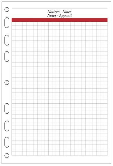 A5 Formblatt Kariertes Papier