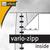 Vario Zipp Overhead-Mappe DIN A4 weiß:Produktabbildung 2