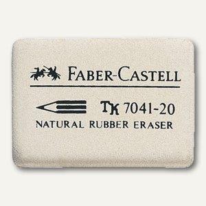Faber-Castell Kautschuk-Radiergummi 7041-20, 40 x 27 x 13 mm, 184120