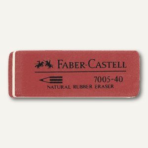Faber-Castell Radiergummi 7005-40, 50 x 18 x 8 mm, rot, 180540