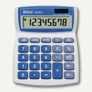 Tischrechner 208X, Solar- und Batteriebetrieb, IB410062