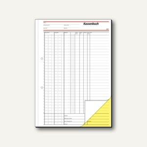 Sigel EDV-Kassenbuch, DIN A4 hoch, weiß/gelb, 2 x 40 Blatt, SD056