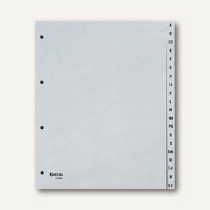 "Hetzel Buchstabenregister ""A-Z"", DIN A4+, PP, grau, 20-tlg., 25262481"
