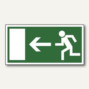 Hinweisschild - Rettungsweg linksweisend
